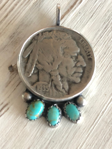 Buffalo Nickel 3 Stone Pendant