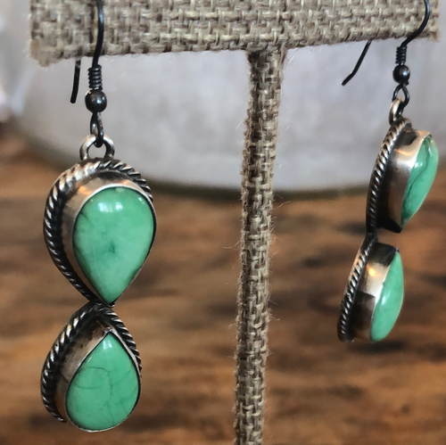 Double Tear Drop Sonoran Turquoise