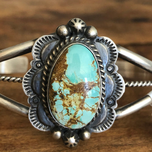 Number 8 Turquoise Cuff