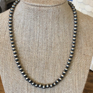 "6mm, 16"" Navajo Pearl Necklace"