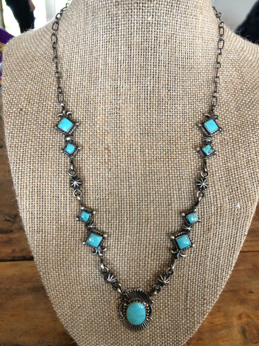 Bobby Platero Kingman Turquoise Necklace