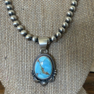 Randy Boyd Golden Hill Turquoise Navajo Pearl Necklace