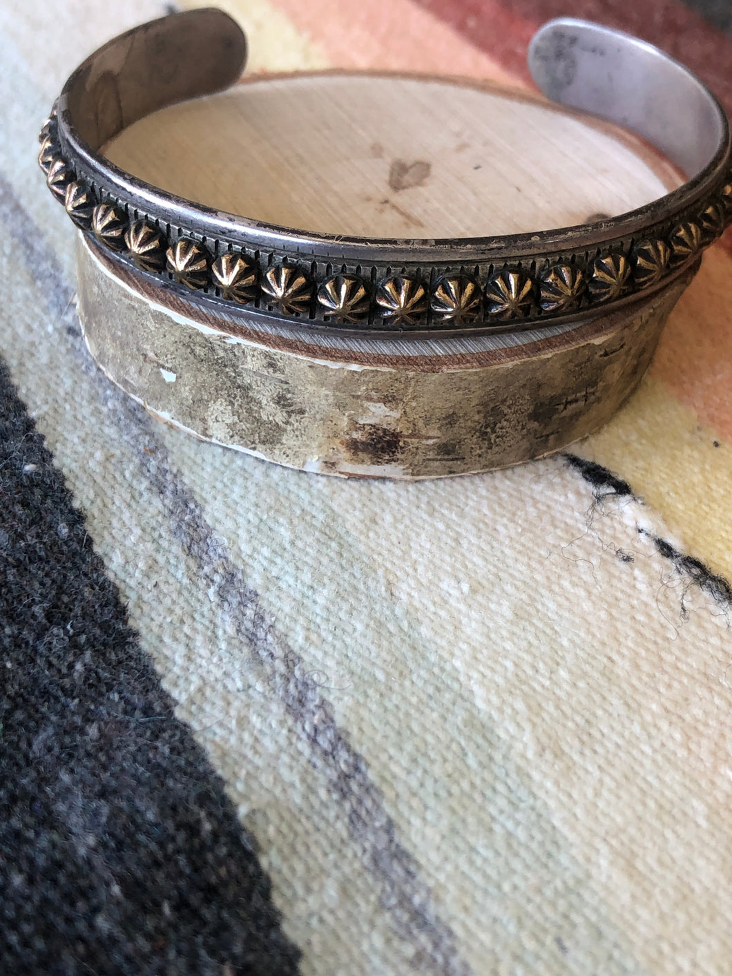 Gold and sterling Concho Cuff