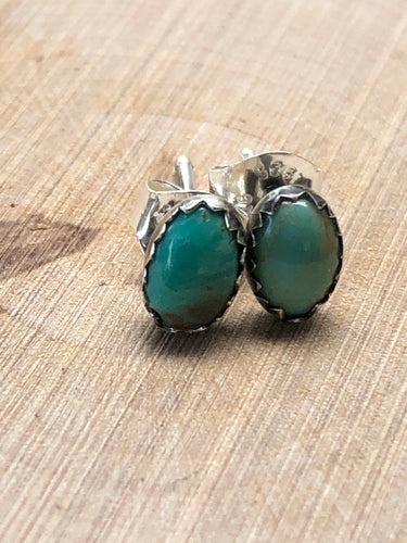 Dainty Oval Turquoise Studs