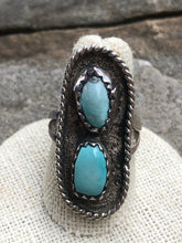 Load image into Gallery viewer, Vintage Double Cabochon rope ring