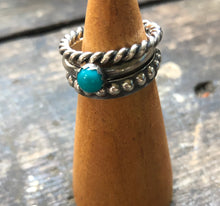 Load image into Gallery viewer, Turquoise Stacker Ring