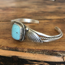 Load image into Gallery viewer, Leaf and Bead Dainty Cuff by Tony Yazzie