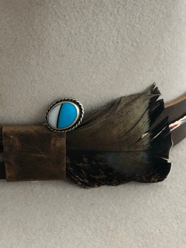 Turquoise Mother Of Pearl Inlay Pin