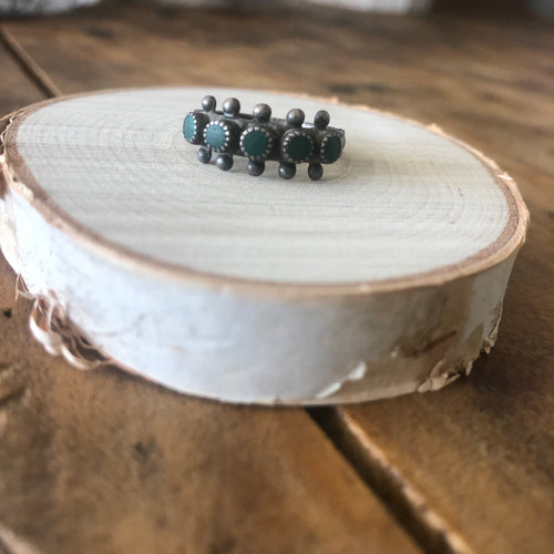Sterling and Turquoise Snake Eye Ring