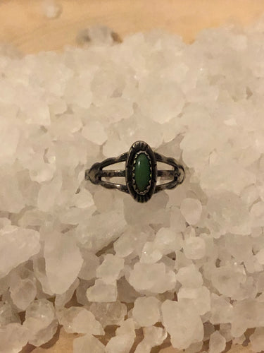 Fred Harvey Era Green Turqoise Ring