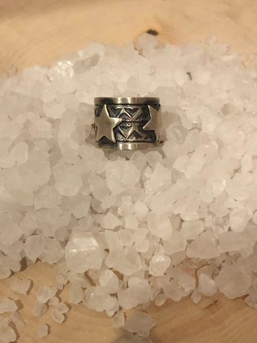 Navajo Darrel Cadman Sterling Star Ring