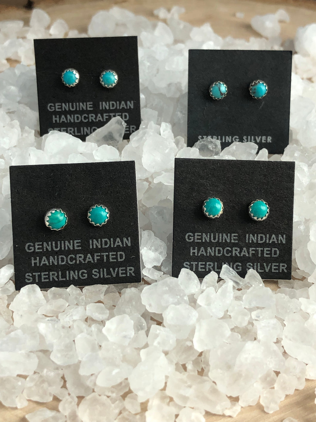 Small Turquoise Dot Post Earrings