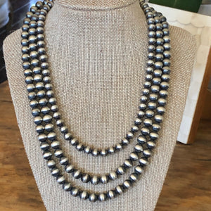 8mm Navajo Pearls Varying Lengths