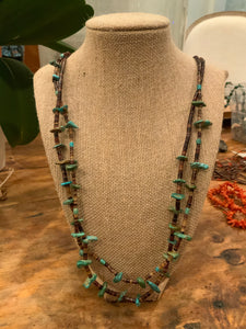 Vintage Shell and a turquoise Heishe