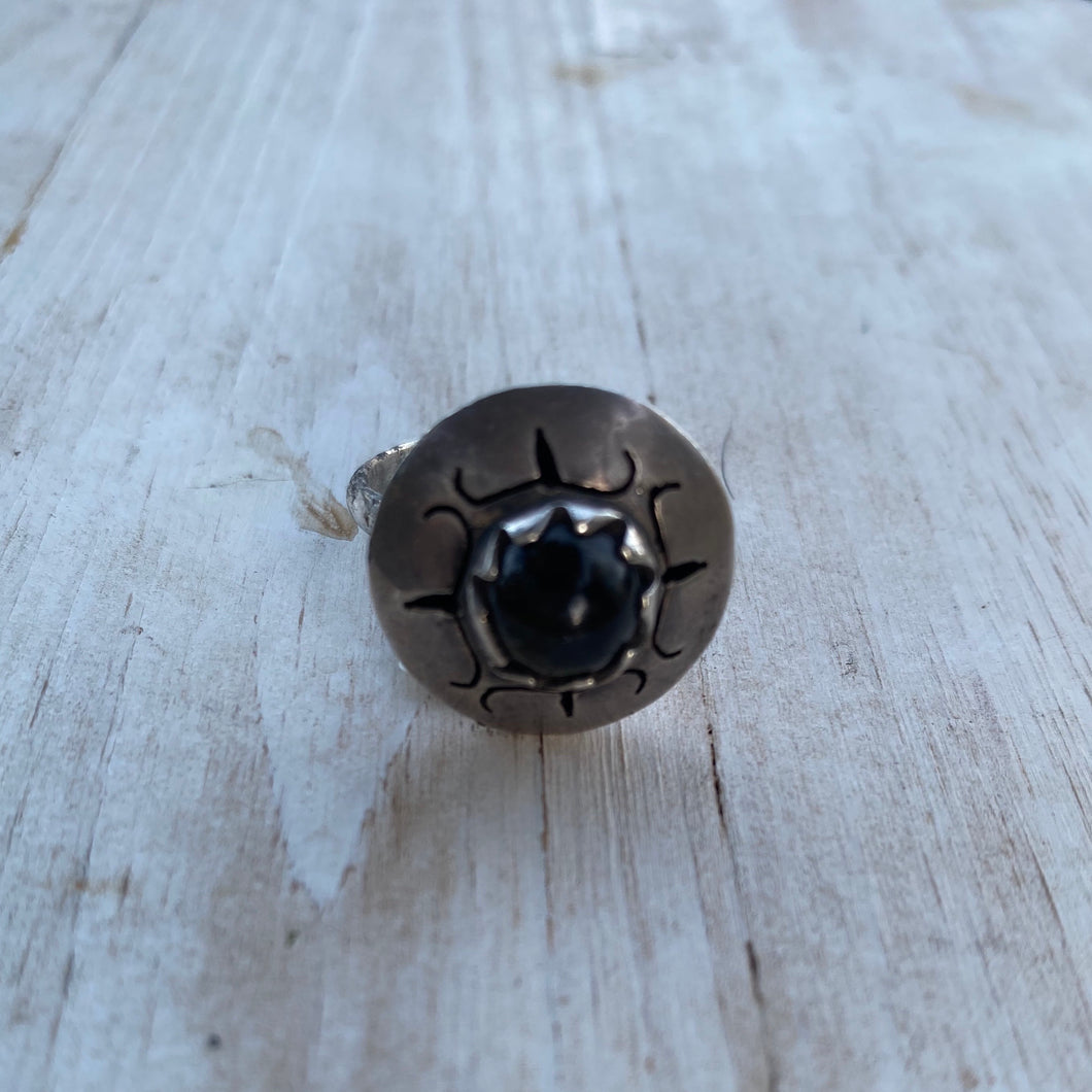 Onyx Saucer Ring
