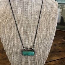 Load image into Gallery viewer, Kingman Turquoise Bar Necklace