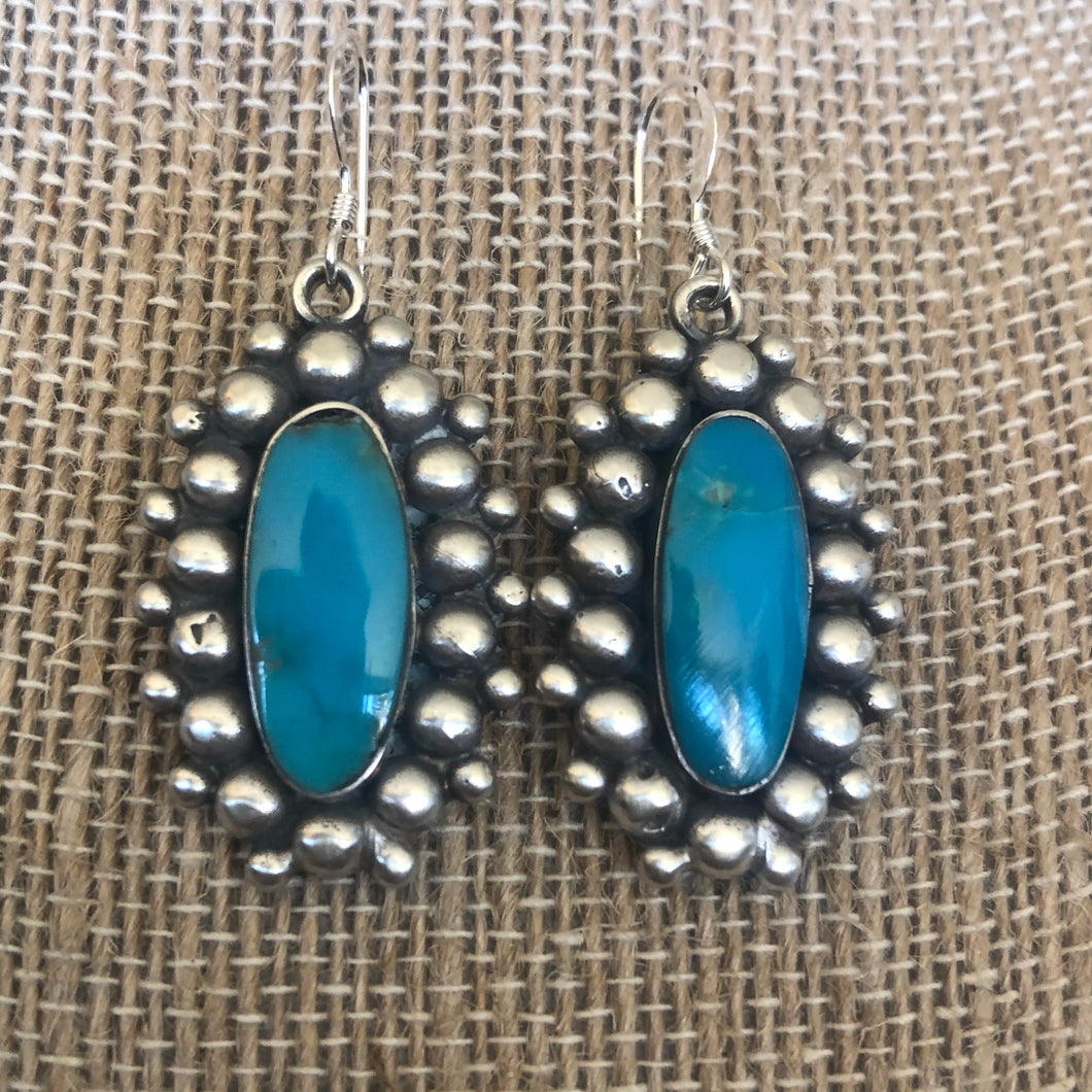 Frieda Martinez bead and Kingman turquoise earrings