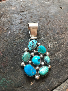 Navajo Sterling Silver and Turquoise Pendant