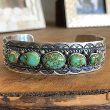 Load image into Gallery viewer, Sonoran Gold Five Stone Cuff