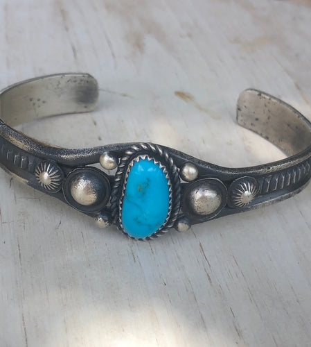 Navajo cuff By  Eva and Linberg Billah