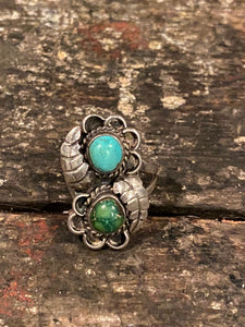Two Tone Turquoise Ring