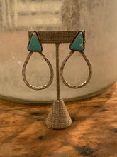 Load image into Gallery viewer, Pilot Mountain Hammered Hoop Earrings