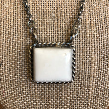 Load image into Gallery viewer, Square Buffalo Turquoise Necklace