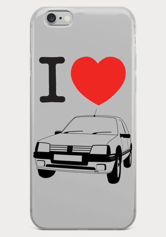 Coque Iphone I Love Peugeot 205 GTI - XR11 Auto