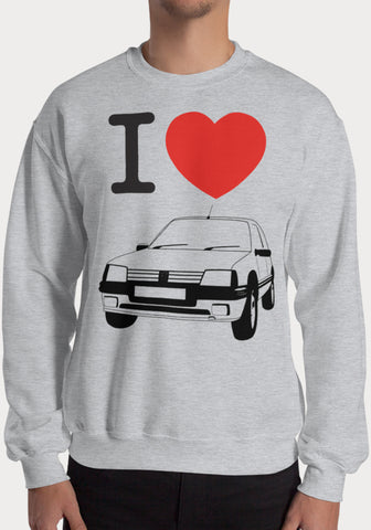 Sweat I Love Peugeot 205 GTI - XR11 Auto Rallye Sport Automobile Pilotage Youngtimers