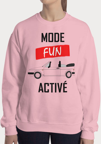 Sweat Femme Volkswagen Golf 1 Cabriolet Mode Fun Activé - XR11 Auto Rallye Sport Automobile Pilotage Youngtimers