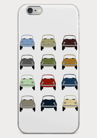 Coque Iphone Folie de Fiat 500 - XR11 Auto Rallye Sport Automobile Pilotage Youngtimers