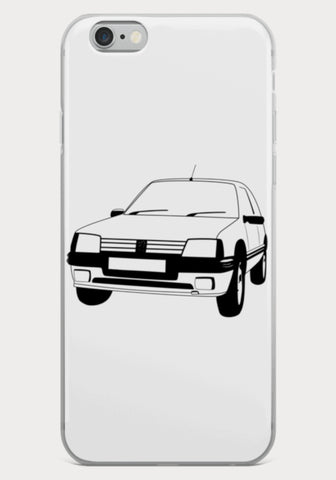 Coque Iphone Peugeot 205 GTI - XR11 Auto Rallye Sport Automobile Pilotage Youngtimers