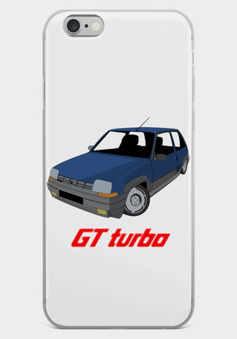 Coque Iphone Renault Super 5 GT Turbo - XR11 Auto Rallye Sport Automobile Pilotage Youngtimers