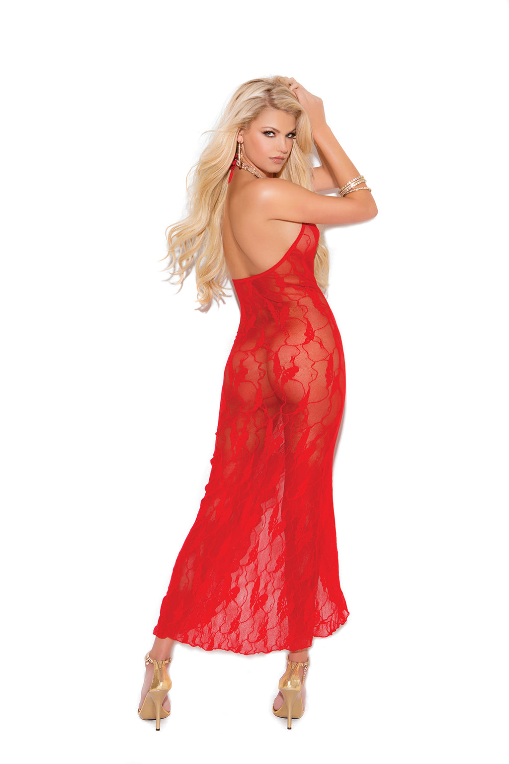 Elegant Moments 1442 Red Lace Butterfly Dress