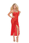 Elegant Moments 82128 Red Shredded Net Mini Dress
