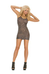 Elegant Moments 1496 Leopard Print Mini Dress
