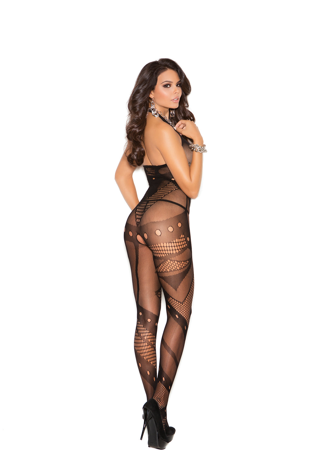 bd7db1c44a Elegant Moments 1650 Seamless Crochet Bodystocking – BananaShoes