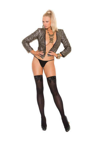 Elegant Moments 1726 Nude Sheer Crotchless Tights