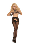 Elegant Moments 5521 Black Lace Racer Back Bralette and Panty
