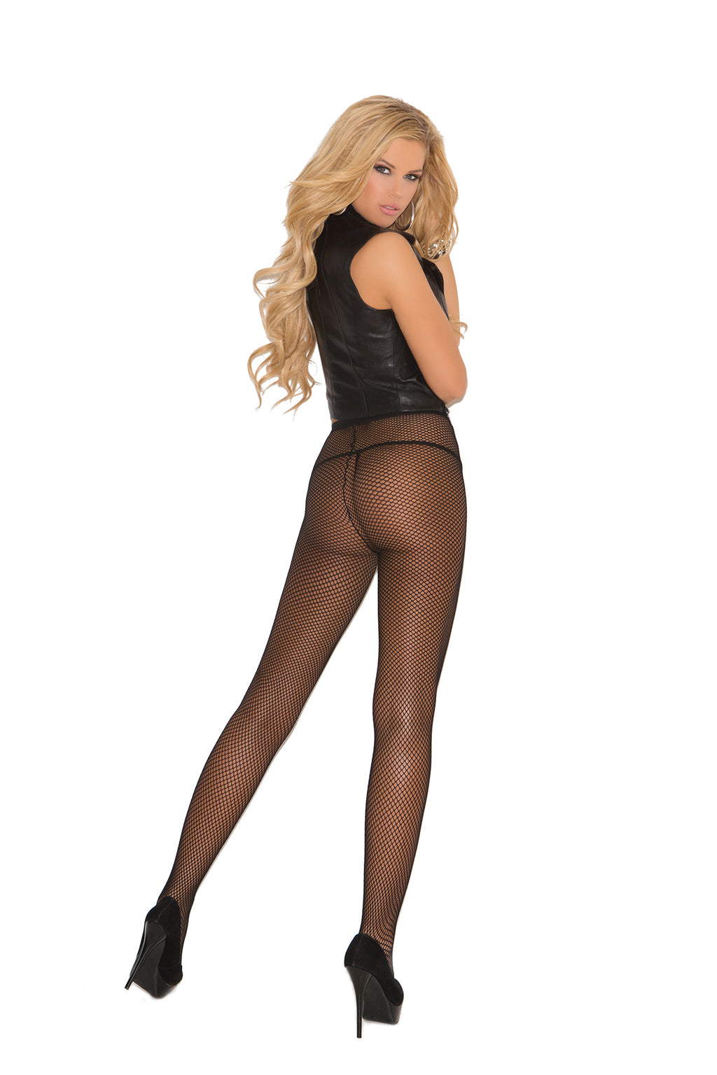 Elegant Moments 1733 Black Fishnet Tights