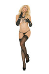 Elegant Moments 1729 Black Lace Stockings