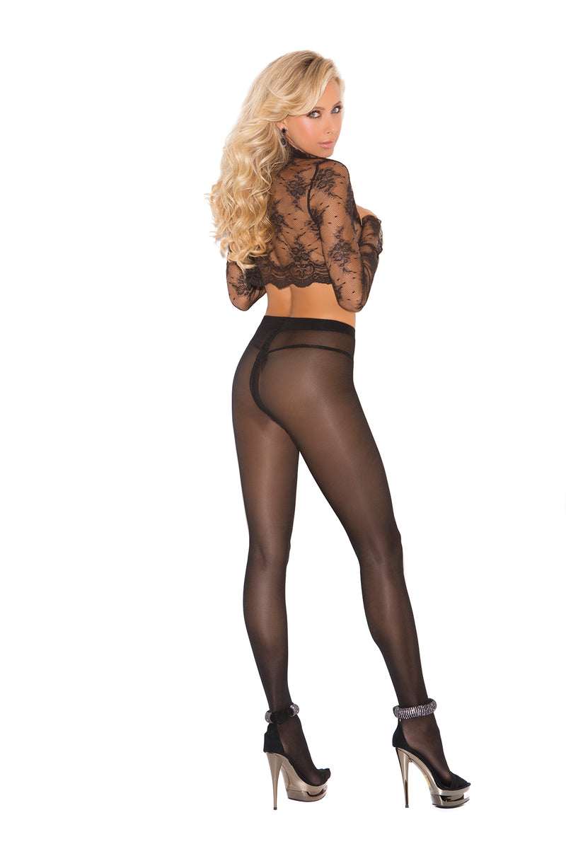 Elegant Moments 1777 Black Sheer Tights