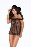 Elegant Moments 1606 Black Bodystocking