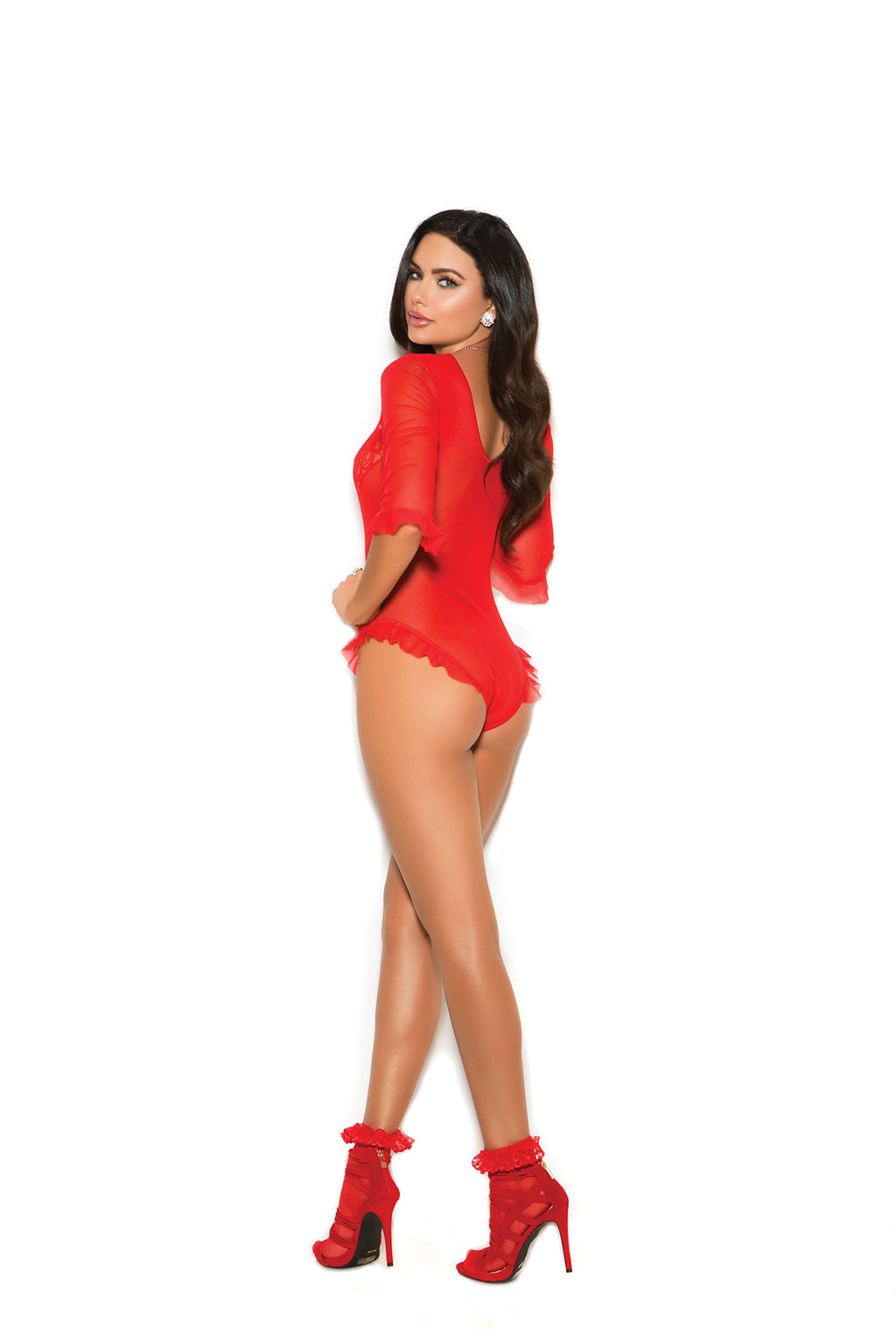 Elegant Moments 88019 Red Lace Teddy