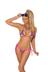 Elegant Moments 8959 Neon Pink G-String Bikini