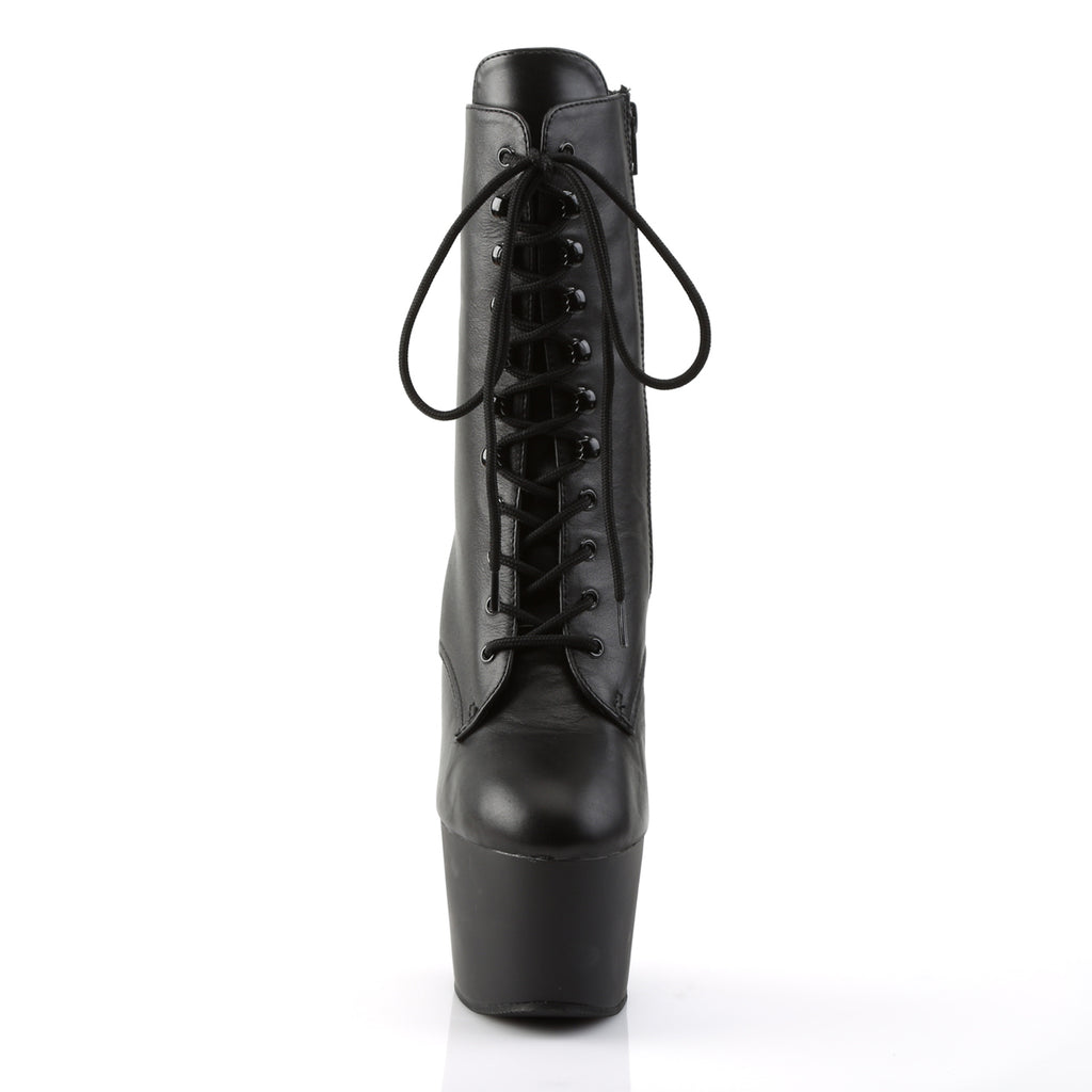 Adore 1020 Black Leather Platform Boots