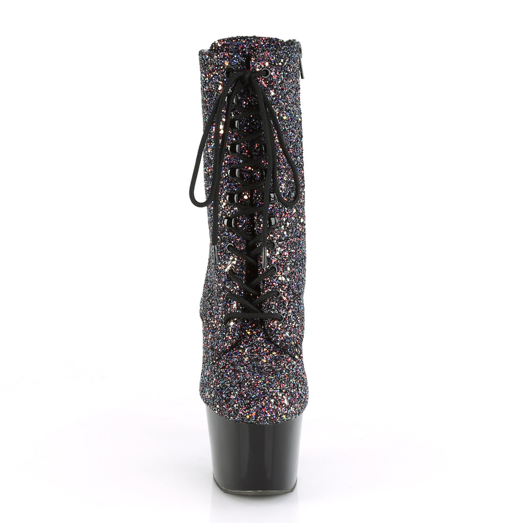 Adore 1020LG Purple & Multicolour Glitter Boots