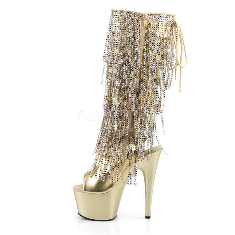 Adore 2024RSF Gold Pewter Chrome Platform Ankle Boot