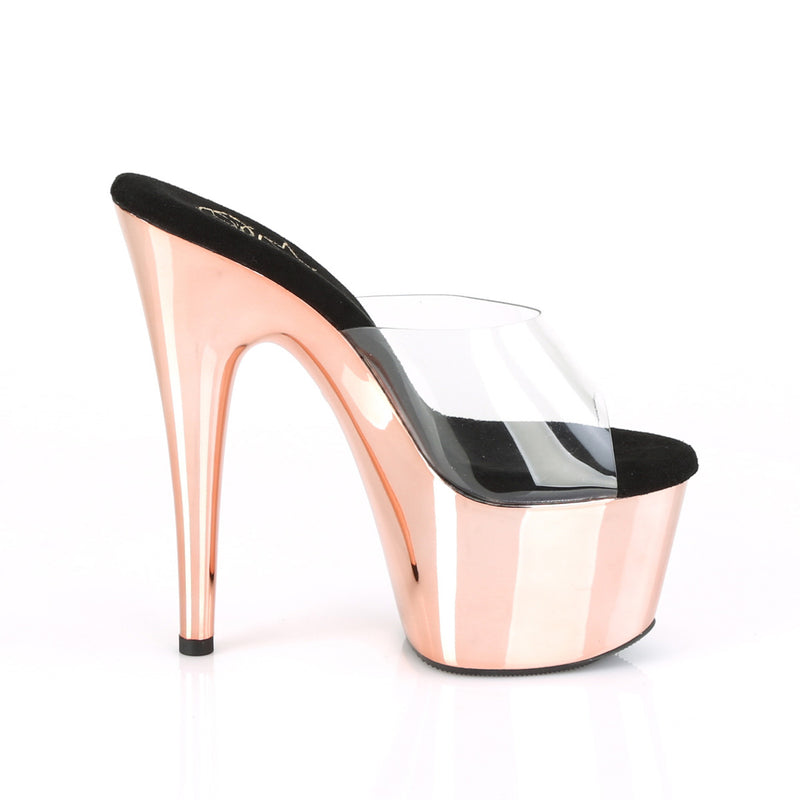 Adore 701 Rose Gold Chrome Platforms