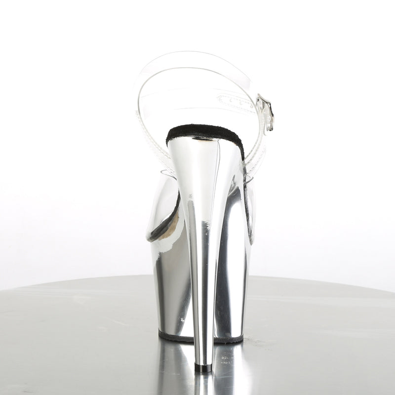 Adore 708 Silver Chrome Platforms